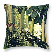 In A Bamboo Garden Throw Pillow