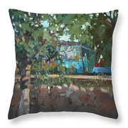 In A Garden At The Grandmother Throw Pillow