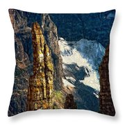 In A High Place Impasto Throw Pillow