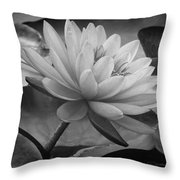 In A Mermaid's Garden - Monochrome Version Throw Pillow