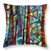 In A Pine Forest - Crop Throw Pillow