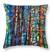 In A Pine Forest Throw Pillow