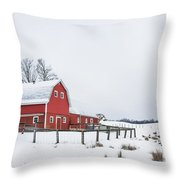 In A Rural Atmosphere Throw Pillow