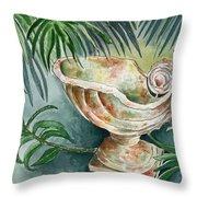 In A Tropical Garden  Throw Pillow