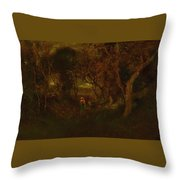 In A Wooded Glen Throw Pillow
