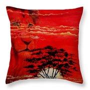In An Arfican Sunset Throw Pillow
