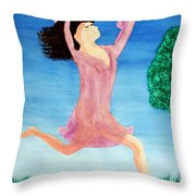 In Between Heaven And Earth Throw Pillow