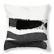 In Between Stage- Abstract Art By Linda Woods Throw Pillow