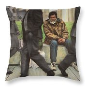 In Between The Shadows Throw Pillow
