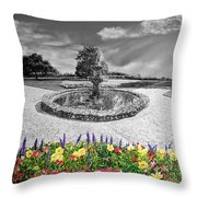 in Black and White Throw Pillow