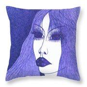 In Blue Colour Throw Pillow