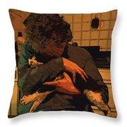 In Braccio Throw Pillow