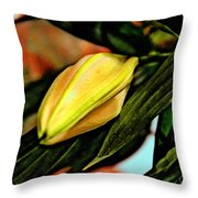 In Bud. Throw Pillow