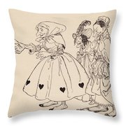 In Came The Three Women Dressed In The Throw Pillow