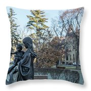 In Celebration Of Family Notre Dame 2 Throw Pillow