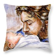 In Children's Faces Throw Pillow