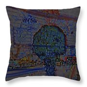 In Color Abstract 4 Throw Pillow