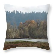 In Company Of Alders Throw Pillow