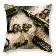 In Contrast Of Love And Light Throw Pillow