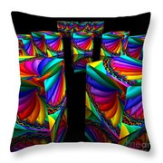 In Different Colors Thrown -3- Throw Pillow