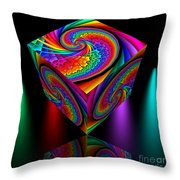 In Different Colors Thrown -4- Throw Pillow by Issabild -