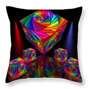 In Different Colors Thrown -8- Throw Pillow