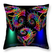 In Different Colors Thrown -9- Throw Pillow