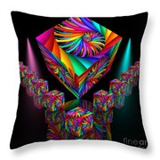In Different Colours Thrown -6- Throw Pillow