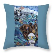 In Dreams Of Ricky Bobbie And Me In Cayman Islands Throw Pillow