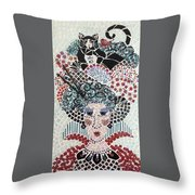 In Dreams Of Ricky Bobbie And Me In China Throw Pillow