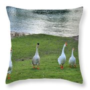 In First Place Throw Pillow