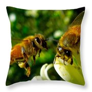 In For Landing Throw Pillow