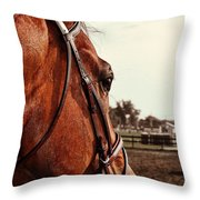 In French Chevel Throw Pillow