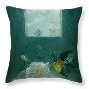 In Front Of The Window Throw Pillow