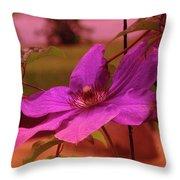 In Full Blue Blossom  Throw Pillow