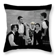In Greek Discussion Throw Pillow