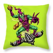 In Green Pursuit Throw Pillow