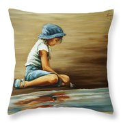 In Her World... Throw Pillow