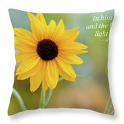 In Him Was Life Throw Pillow