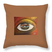 In His Eyes  Throw Pillow