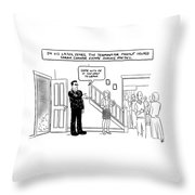 In His Later Years Throw Pillow
