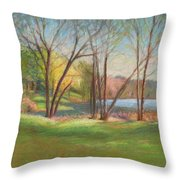 In Just Spring At Plug Throw Pillow