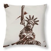 In Liberty Of New York Throw Pillow