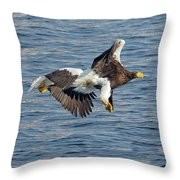 In Line Flying Throw Pillow