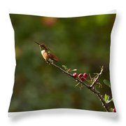 In Line With The Branch Throw Pillow