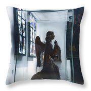 In London Museums 9 Throw Pillow
