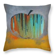 In Love With Apple Throw Pillow