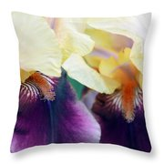 In Love With Iris Throw Pillow