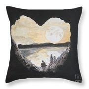 In Love With Meditation  Throw Pillow