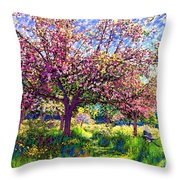 In Love With Spring, Blossom Trees Throw Pillow